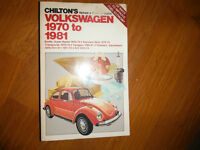 Aircooled VW Beetle Bus Ghia Transporter Shop Manual 1970 -1981