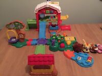 Vtech toot toot animal farm and animals
