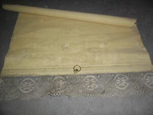Vintage lace roller blinds