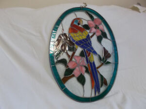 outstanding stained glass parrot window sun catcher 22 x 16 inch