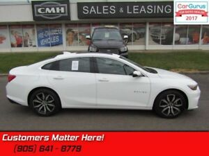 2017 Chevrolet Malibu 1LT  NAV, LEATHER, ROOF, CAMERA, POWER HEA