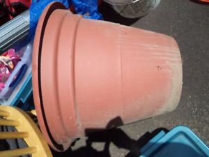 Large plastic pot and tray