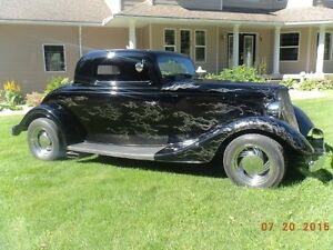 1934 Ford 3 window coupe (fiberglass body)