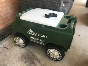 Remote Control Coors Light Cooler with Bluetooth Speakers. New!!