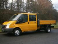 2011(61) Ford Transit T350 6spd LWB D/C CREW CAB ONE STOP TIPPER, EURO 5