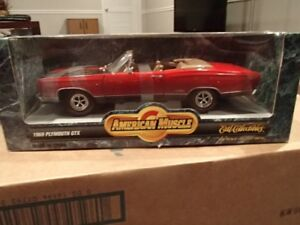 1:18 SCALE DIE-CAST AMERICAN MUSCLE 1969 PLYMOUTH GTX SCORCH RED