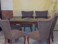Classy Dining Room Table with Six Chairs