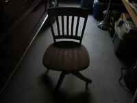 OLD SOLID OAK LAWYER'S CHAIR