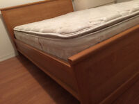 Double Bed Frame (IKEA) with Mattress