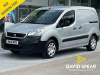 2018 Peugeot Partner Blue HDi 100ps Professional L1 850 KG With Sat Nav, Air Con