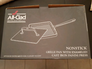 ALL CLAD NONSTICK GRILL PAN WITH PANINI PRESS