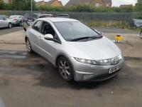 2007 56 HONDA CIVIC 1.8i VTEC EX 5 DOOR.PX BARGAIN TO CLEAR.NEEDS A NEW CLUTCH.