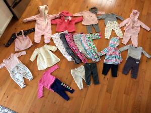 Girl 3-6 month lot