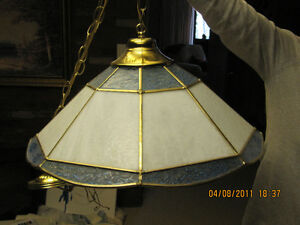stained glass swag lamp