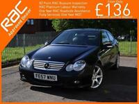 2007 Mercedes-Benz C Class C180 Kompressor Sport 2 Door Coupe Tiptronic Auto Pan