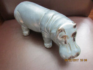 Blue Mountain Pottery Large Blue Hippo BMP  4 x 10