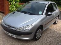 2003 03 Peugeot 206 1.4HDi ( a/c ) Look 88,000 miles