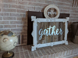 One of a kind barnboard signs...gorgeous rustic decor!