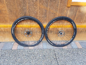 shimano mt66 29er wheelset +tyres and rotors