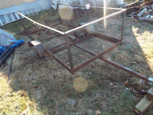 trailer frame ideal for lawn tractor or 4 wheeler