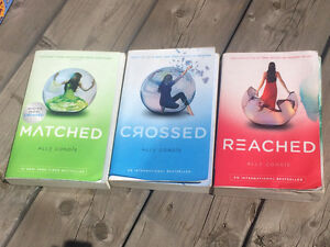 3 paperbacked books by Ally Condie – Matched, Crossed & Reached