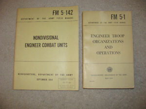 VINTAGE US ARMY ENGINEER BOOKS