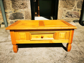 Lovely solid pine coffee table. Open to offers.