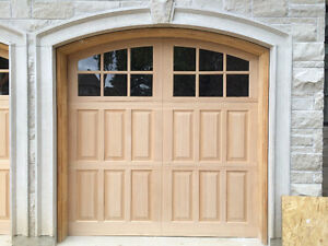 Wood Garage Doors Carriage House Design 9x8 Model 105W12A