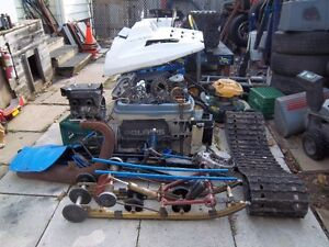 1985 to 1995 polaris indy 500 snow mobile parts only .call us..