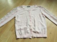 George pink cardigan Age 10-11