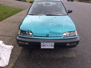 1991 Honda Civic Hatchback REDUCED FROM $1700
