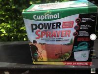 Cuprinol cordless power sprayer for fencing
