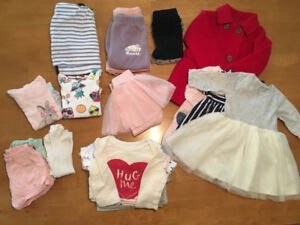 """Baby Girl"" clothes (assorted 12~18 months) 21 items for $50 !!"