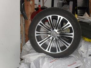 "Nankang snow viva sv1 17"" snow tires on BMW rims 225/50/17"