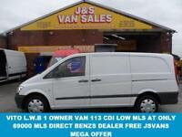 2012 12 MERCEDES-BENZ VITO 2.1 113 CDI 1D 136 BHP LWB VITO 2012/12 REG ONLY 6900