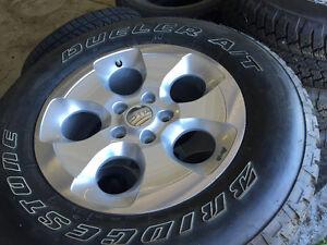 New Set of 5 Jeep Bridgestone Tires and Rims