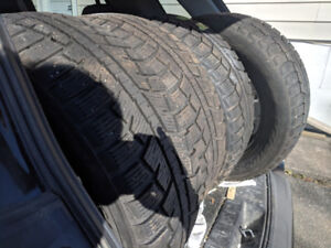"17"" winter tires, used"