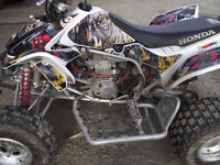 2008 HONDA 450 RACE QUAD  METAL MULISHA GRAPHICS