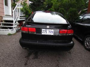 saab 9-3 2002  noir hatchback