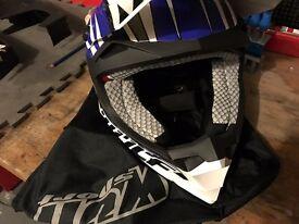 Quad / moto helmet, suit and gloves