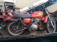 1978 HONDA XL125 - NOT RUNNING