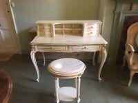 Bedroom dresser with stool