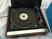 Vintage Record Player, Over 100 Records and Record Stand
