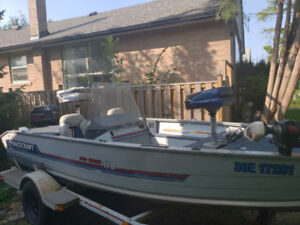 1990 princecraft pro series 170 90hp bass boat with accessories