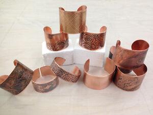 Non-acid Etching - Copper Cuff Bracelet Cambridge Kitchener Area image 1