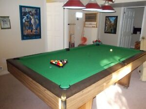 slate 4 by 8 billiard table like new
