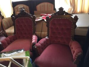 Pair of Eastlake Antique Chairs London Ontario image 5