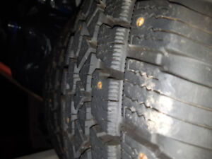 2 new studded winter tires
