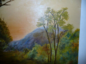 """Vintage Cabin on a Hill by G. Eastman """"Homestead"""" Oil Painting Stratford Kitchener Area image 2"""