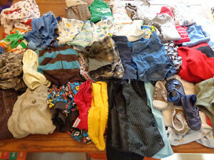 BOY LOT6-12 month summer cloths pants a couple sleepers variety